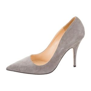 Kate Spade Licorice Grey suede heels